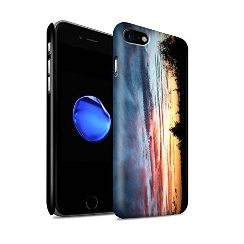 STUFF4 Matte Snap-On Hülle / Case für Apple iPhone 7 Plus / Strand Muster / Sonnenuntergang Kollektion Orange & Blue