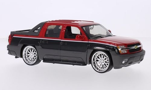 chevrolet-avalanche-tuning-rot-schwarz-2002-modellauto-fertigmodell-welly-124