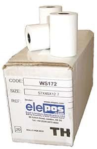 Ascom EFT-20p EFT20p EFT-20 Credit Card Terminal Rolls 1 Box (20 Rolls)