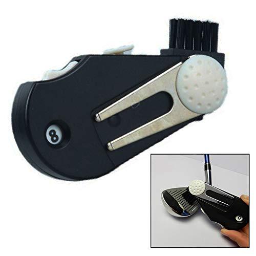Xrten Golf Score Zähler,Golf Schlagzähler Pitchgabel Groove Brush,5 in 1 Golf Multifunktions Werkzeug