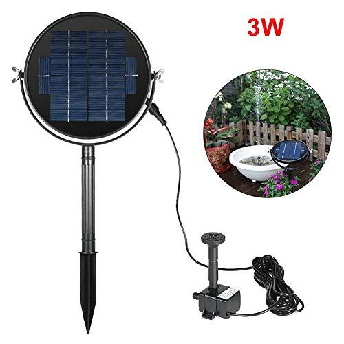 PIONIN 3W Solar Brunnenpumpe In-Ground 360 ゚ Rotation Solar Panel mit 10-Fuß-Kabel wasserdichte Pumpe Landschaftsschwimmende Brunnenpumpe für Garten-Pool-Dekoration 360 Panel