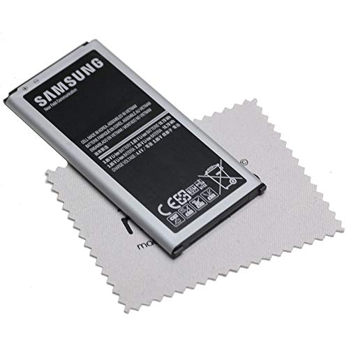 Akku für Samsung Original für Samsung Galaxy S5 Neo Li-Ion EB-BG900 2.800mAh Li-Ion mit mungoo Displayputztuch