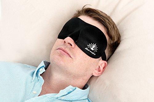 Echten Komfort, 3D Eye Maske, Schlafmaske Premium Schlafmaske/Reisen mask-unisex Eye Masken. unglaublich Leichte ultrasoftes Polsterung & 3D Schnitt für maximalen Komfort & Freie Eye, eine vollständige Verdunkelung, bekämpft Schlaflosigkeit. Sleeping Masken für Herren und Damen