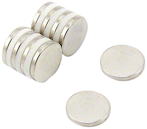 first2magnets F310-N35-10 - Magnete al neodimio N35, diametro 15 mm x spessore 2 mm, forza magnetica 1.8 Kg (10 pezzi)