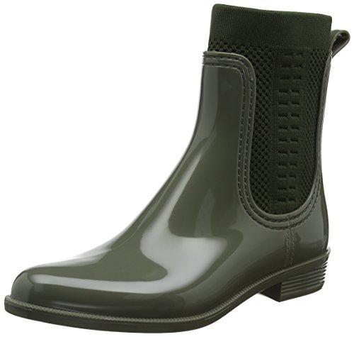 Tommy Hilfiger Damen Knit RAIN Boot Gummistiefel, Grün (Dusty Olive 011), 40 EU