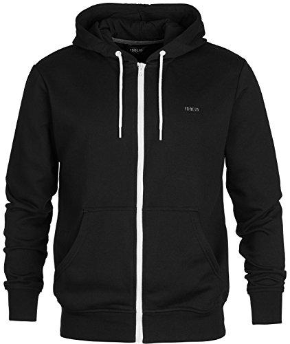 !Solid-Kjelt, Kapuzenpullover, Black, Gr. L/Sweatshirt-Jacke/Herren Hoddie/Kapuzenjacke/Pulli mit Reißverschluß