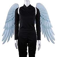 Alas de hadas, pluma de impresión 3D extra grande Alas de ángel de hadas de Halloween para niños Alas de ángel adultas Disfraces Pluma de hadas para accesorios de fiesta de Halloween (Blanco , Niños)