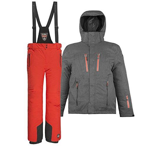 Killtec Herren Skianzug Farb- und Größenwahl (orange/blau, XL)