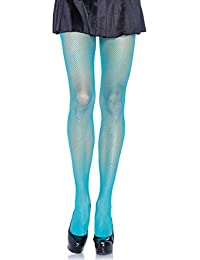 Leg Avenue Women's Fishnet Pantyhose, One Size, Neon Blue