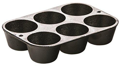 Lodge 6-Cup Pre-Seasoned Cast Iron Mini Muffin / Cupcake Pan
