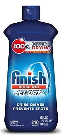 Finish Jet-Dry Dishwasher Rinse Aid Mega Value, 23 Oz, 5X Power, Shine & Protect