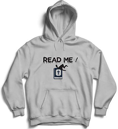h Read Me_006214 Cute Funny Hoody Sweater Sweatshirt Pullover Present - 2XL Grey Hoodie ()