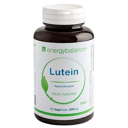 Lutein OptiLut + Zeaxanthin Kapseln 200mg - carotinoides Antioxidans - VEGAN - HOCHDOSIERT - Glutenfrei - Hohe Bioverfügbarkeit - Ohne Ethoxyquin (E324) - 60 VegeCaps