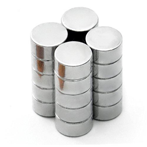 Neodym-Magnete Set 6 x 3 mm ; 20 Stück Kühlschrank-Magnet Scheibenmagnete Permanentmagnete