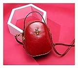 ArrJee La Moda Señoras'Bolsa Bolso Oblicuas Bolsa Bolso Mini Bean Bag Dermis Alto Grado Sencillez Moda Dulzor Retro Temperamento,Gules