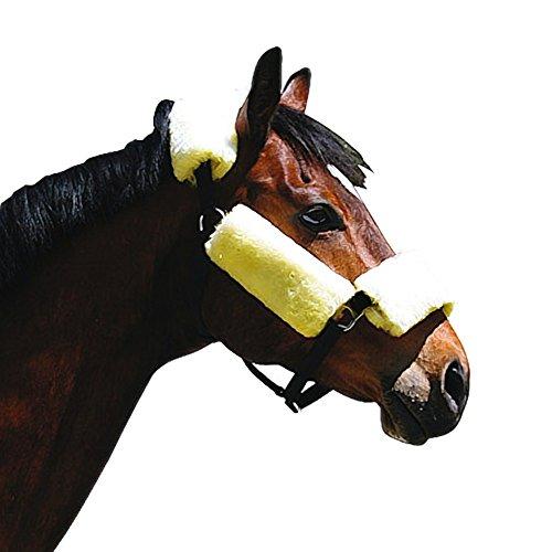 4-teiliges Lammfell-Set für Pferde-Halfter Nasenband Kopfband Backenbänder -