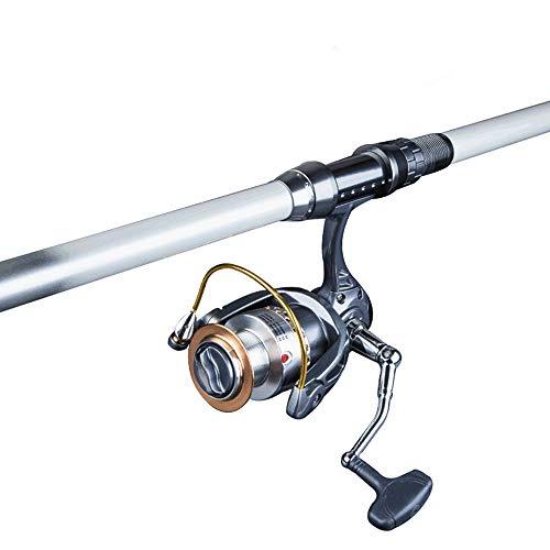 CCIG Teleskop-Rute, Angelrollen-Kombinationen Mit Kohlefaser-Angelruten-Spinnrollen Und Angelzubehör Für Das Hochsee-Salzwasser-Süßwasserfischen,3.6m+Wheel -
