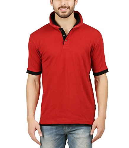 Leaf Woods Mens Cotton Premium Double Collar Polo T-shirt