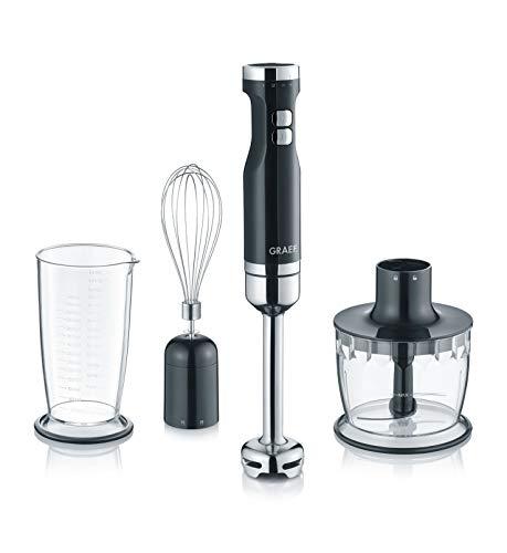 Graef HB502EU Stabmixer, Kunststoff, Schwarz, Silber