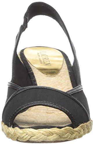 Lauren Ralph Lauren Catrin Toile Sandales Compensés Black