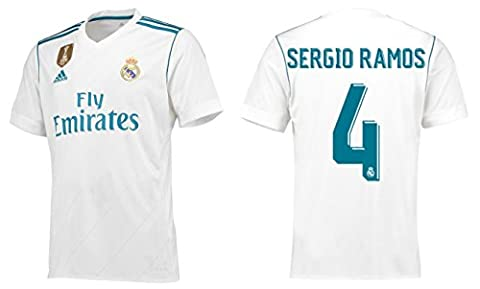 Trikot Kinder Adidas Real Madrid 2017-2018 Home WC - Sergio Ramos 4 (152)