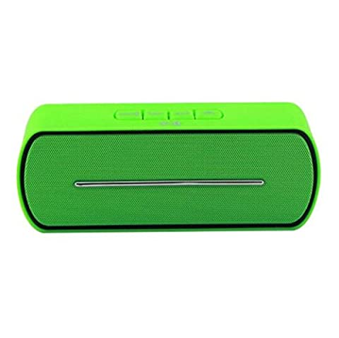 H&M Beweglicher drahtloser Bluetooth Lautsprecher, Stereo im Freien freihändiger Musik-Ton-Kasten Unterstützungs-TF-Kartenspiel, USB-FM Lautsprecher für intelligentes Telefon , green