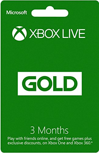 Xbox Live Gold 3 Month Membership Card (Xbox One/360)