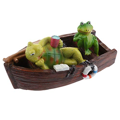 Homyl Schwan schwimmend Dekoschwan Schwimmfigur, Ideal für Garten Teich Rasen Deko Schwimmfigur Teichdeko der Hingucker im Teich - 9# dunkelbraunes Kanu