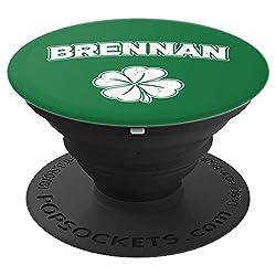 Irish Clover Brennan St Patrick's Day Pride Gift - PopSockets Ausziehbarer Sockel und Griff für Smartphones und Tablets