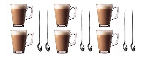 lot-de-6-tasses-a-latte-en-verre-240-ml-lot-de-6-cuilleres-a-manche-long-19-cm-en-acier-inoxydable-i