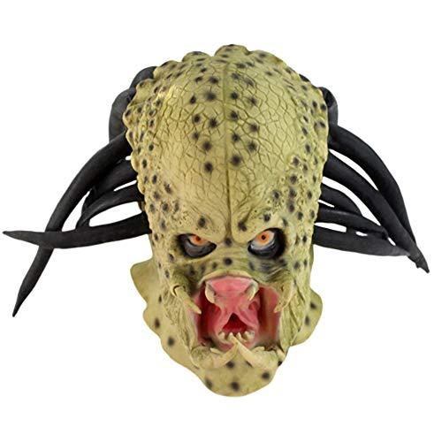 JJIIEE Horror Maske, Zombie Maske, Latex Biochemical Monster Mask Anzug für Kostümparty Halloween (Für Erwachsene Warfare Kostüm)