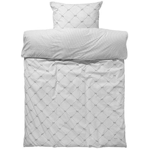 Nicolientje 8718421701582cama con cremallera 100x 135cm, incluye almohada de 40x 60cm, Plata
