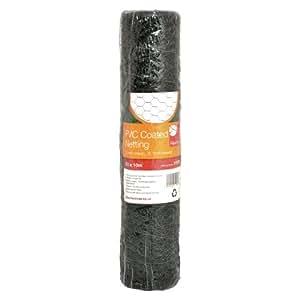 Hühnerdraht mit Grün Kunststoff-Finish 13mm Mesh. 1m x 10m lang