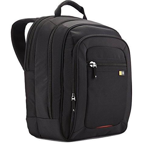 Case Logic – Mochila para portátiles de 16″/40 cm, color negro y rojo