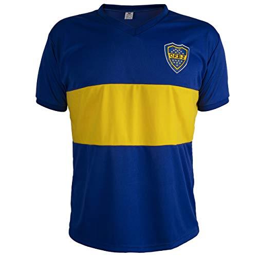 Camiseta Boca Juniors Retro Fútbol Hombrega Corta