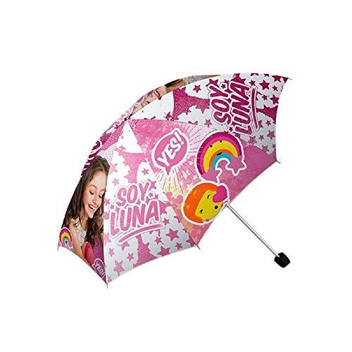 Kids Ich bin Luna Taschenschirm, 24cm, Pink