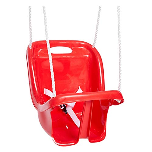 Zyangg-Home Kinder Adjustable Outdoor Gartenschaukelsitz High Back Full Bucket Kinderschaukelsitz Herbst Kindersicherheitssitz (Farbe : Rot, Größe : 36x25.5x40cm)
