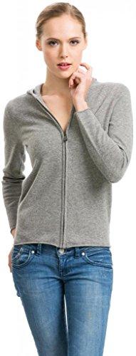 Citizen Cashmere Hoodie Damen - 100% Kaschmir (Grau S) 41 102-05-01 - 100% Wolle Jacke