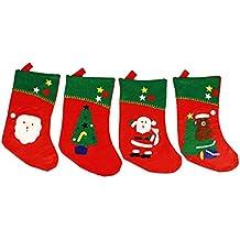 HAAC Bota-calcetín Botas calcetín de Navidad con Papá Noel, Árbol de Navidad o