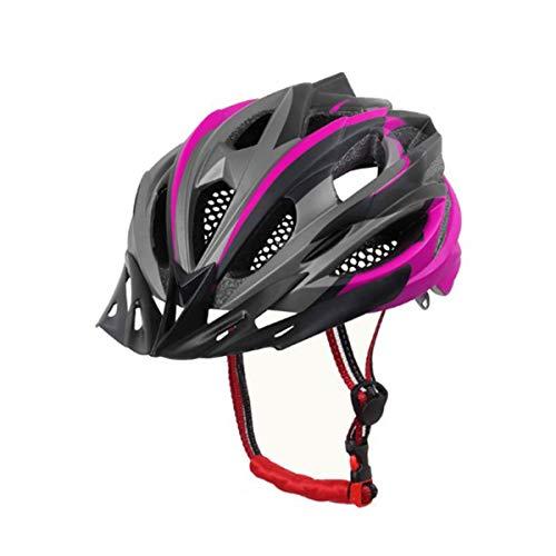 X-TIGER Casco da Bici,Ultraleggero Stabile Strada Montagna da Uomo Donna Ciclismo Casco di Bicicletta Casco Adulto Visiera Casco di Protezione Certificata CE (Rosa)