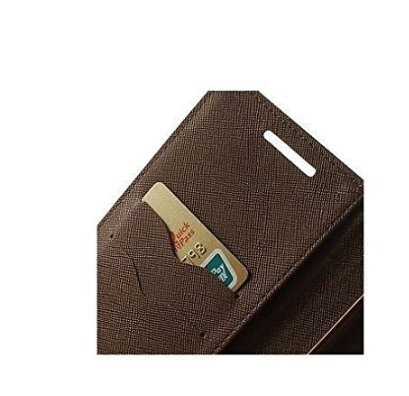 CHL chlmercurymmxiaomiXIAOMIbr CHL CHL Imported Mercury Fancy Wallet Dairy Flip Case Cover for Xiaomi Redmi 2 / Mi Redmi 2 Prime (Black:Brown)