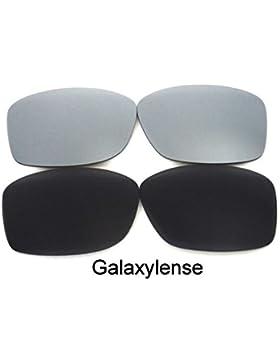 Galaxy Lentes De Repuesto Para Oakley Jupiter Squared negro y titanio Polarizados 2 pares