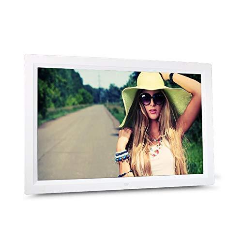 HD-Digital-Foto-Feld-elektronisches Album 17 Zoll vorne Touch-Taste Multi-Sprache-LED-Bildschirm Bilder Music Video - Weiß