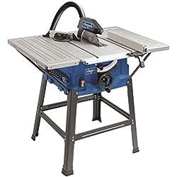 Scheppach HS100STVB Kit scie circulaire de table Lame 250mm 230V 2000W Table avec rallonges et piètement