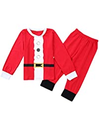 Mxssi Cotton Christmas Pyjamas Set Boys Sleepwear Pijamas Infantiles para Niños Niñas Pyjamas Christmas Set