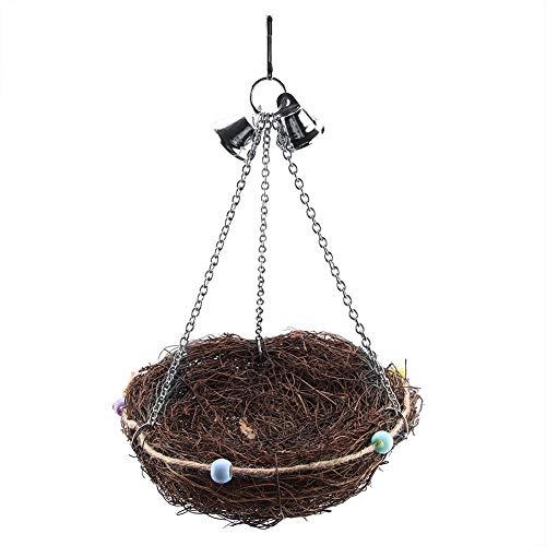 HEEPDD-Nido-di-Uccello-Tessuto-di-Cotone-Fatto-a-Mano-Corda-di-Canapa-Nido-Naturale-di-ramoscello-Gabbia-di-Fibra-Naturale-al-100-Casetta-Capanna-di-capanna-per-pappagalli-Cinciallegra-Cockatie