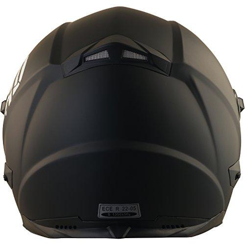 Broken Head BeProud Helm | Motorradhelm Set inkl. Schwarzem Visier - Integralhelm - Karthelm - Nakedbike schwarz-matt S (55-56 cm) - 5