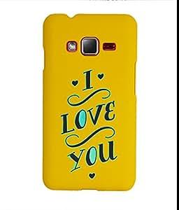 KolorEdge Back Cover For Samsung Z1 - Yellow (1415-Ke15174SamZ1Yellow3D)
