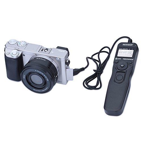 Neewer® RM-VPR1 LCD Digital Timer Fernauslöser Fernbedienung Kabel Kompatibel mit RM-VPR1 Multi-Terminal-Stecker für SONY Alpha A7r, A7, A7 II, A7R II , A6000, A3000, SLT-A58, NEX-3NL, DSC-HX300, DSC-RX100M3, DSC-RX100M2, DSC-RX100III, DSC-RX100II Kameras