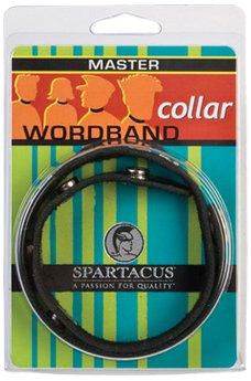 Spartacus Halsband MASTER Leder Schwarz 33-41cm Gesamtlänge